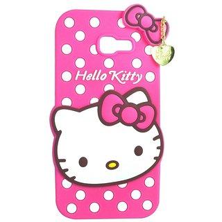 brand new 8f658 ea75b FOR Samsung Galaxy A5 2017 Dream2Cool Cute cartoon Hello Kitty Silicone  With Pendant Back Case Cover For Samsung Galaxy A5 2017 ( Pink)