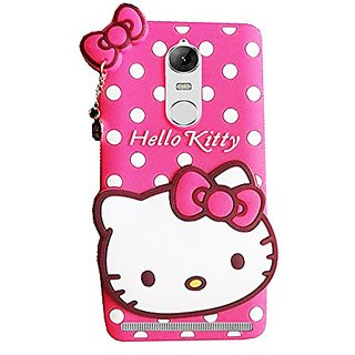 Lenovo K5 Note Back Cover - Dream2Cool Printed Hello Kitty Soft Rubber Silicone Pink Back Cover Case For Lenovo K5 Note Back Cover- Pink