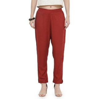 Varanga Rust Solid Cigarette Pants VAR1180007