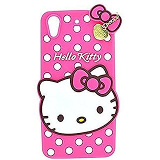 Oppo A37 Back Cover - Dream2Cool Printed Hello Kitty Soft Rubber Silicone Pink Back Cover Case For Oppo A37 Back Cover- Pink