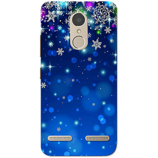 Lenovo K6 Power Case, Blue Stars Slim Fit Hard Case Cover/Back Cover for Lenovo K6 Power