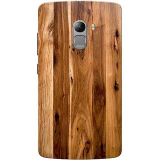 newest 54830 04c61 Buy Lenovo K4 Note Case, Wooden Texture Light Brown Slim Fit Hard ...