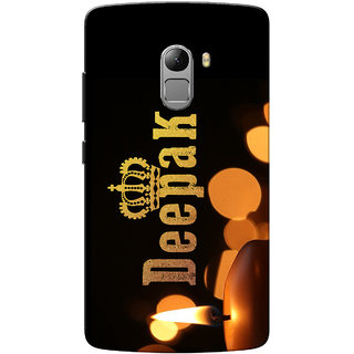 Lenovo K4 Note Case, Deepak Yellow Black Slim Fit Hard Case Cover/Back Cover for Lenovo Vibe K4 Note
