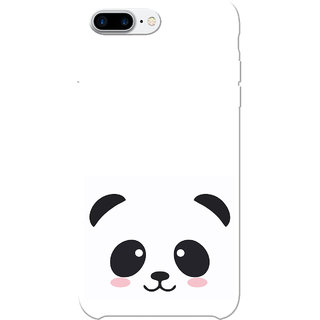 look for 7428a 77bc6 iPhone 7 Plus Case, Black Cute Panda White Slim Fit Hard Case Cover/Back  Cover for iPhone 7 Plus