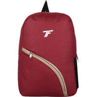 Fashion Track Single Compartment Maroon casual college tuition backpack