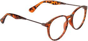 Zyaden Brown Round Eyewear Frame 347