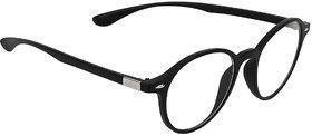 Zyaden Black Round Eyewear frame 370