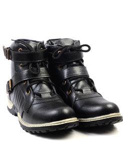 Floxtar Men's Black Lace-up Boots