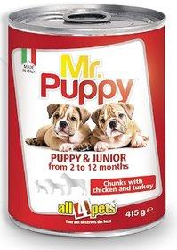 Mr. Puppy Chunks With Chicken  Turkey-415gms