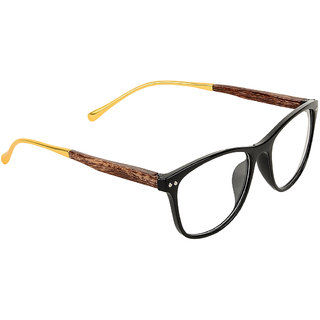 Zyaden Black Rectangle Eyewear frame 354