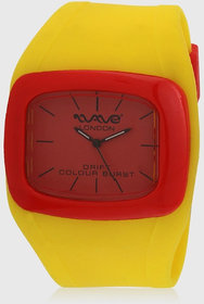 Wave London Wl-Cb-Yr Yellow/Red Analog Watch