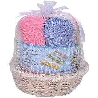 df54ee4be57c Buy Goodstart Multicolored Hosiery Baby Face towels - Set of 5 ...