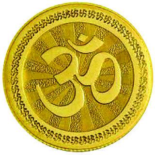 Om 1 grams 995 24 kt Gold Coin