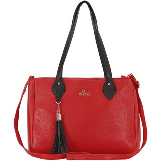 Lavie Red Solid/Plain Shoulder Bags
