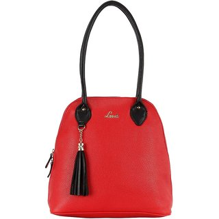 Lavie Red Solid/Plain Shoulder Bags