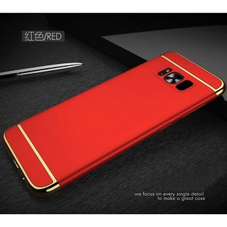 BM  Samsung Galaxy S8 Plus 3in1 Hybrid Hard Back Cover Electroplating Case For Samsung  Galaxy ( RED