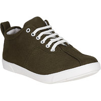 Filberto Mens Olive Lace-up Smart Casuals Shoes