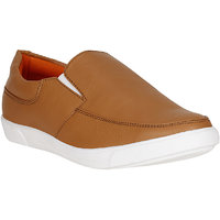 Filberto Mens Tan Slip On Loafers Shoes