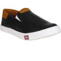 Filberto Mens Black Slip On Loafers Shoes