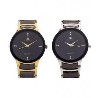 IIk Men SliverBlack + GoldBlack Watches Combo Of 2 By Prushti