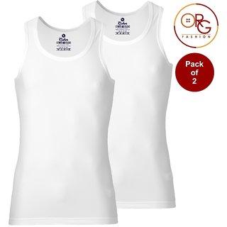 Rider Blue Bird 80-85 Cotton White Vests for Men (Pack of 2)