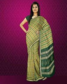 United Multicolor Silk Self Design Saree With Blouse