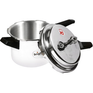 brightflame Pressure Cooker Stainless Steel 5 Ltr Outer Lid
