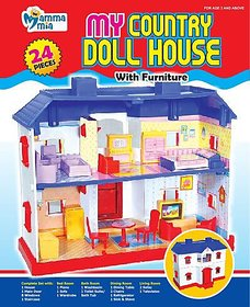 Mamma Mia My Country Doll House With Furniture