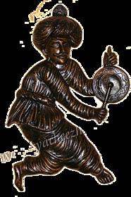 Rajashtani man - Ringing and playing bell, Wall Hanging