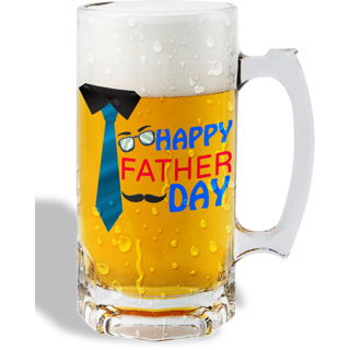 Print Operas  Printed Designer Beer mugs of 0.5 quart and Premium Glossy Finish taransparent - Father's day