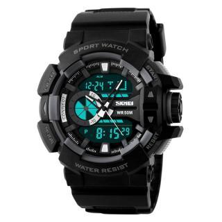 SKMEI Outdoor Sports OLA-SK1117C Dual Time Display Waterproof Digital Watch Grey