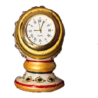 Hand Painted Marble Pillar Clock (Small)
