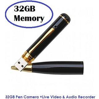 32 GB HD Pen Camera @ 999 - 8 MP Camera Spy Hidden Record