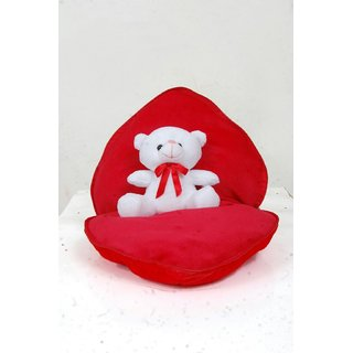 stuffed toy cute openable lovable zipper heart red