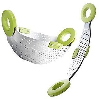 SRK Kitchen Drain Basket Colander Strainer for Fruits Vegetables Rice Cereal Rinse Bowl (Color May Vary)