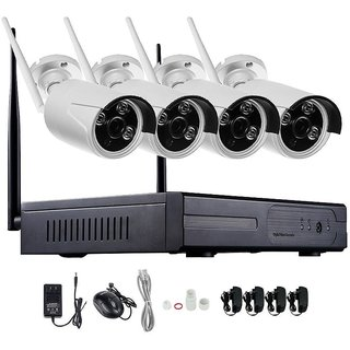Wireless NVR WiFi IP CAMERA CCTV DVR KIT 4CH 720P HD P2P Home Security System