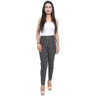 Buy Womens Ladies Grey Elasticated High Waist Verticle Stripe Tight Fit Jeggings Leggings Online 299 From Shopclues