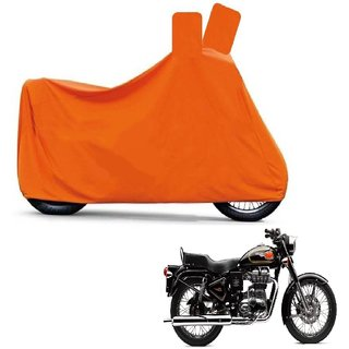 Kaaz Full Orange Two Wheeler Cover For Bullet 350