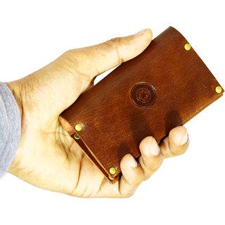 POLLSTAR Full Grain Genuine Leather Up to 16 card Slots Card holder for Men  Women (CH2001BN)