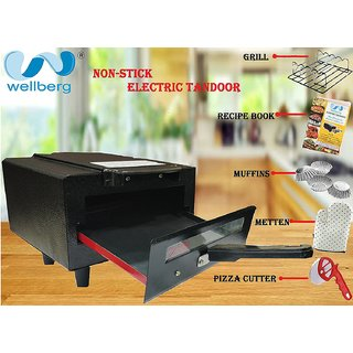 wellberg premium non-stick electric tandoor( 10 inches)  with full accessories and 2 years warranty.