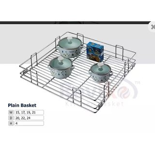 Plain kitchen basket ( 17-20-6 inche )