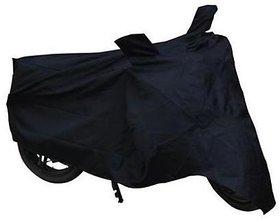 Benjoy Bike Motorcycle Body Cover Black With Mirror Pocket For Bajaj DisCover Black 100 DTS-I