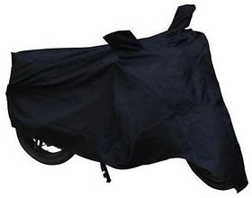 Benjoy Bike Motorcycle Body Cover Black With Mirror Pocket For Hero Glamour FI
