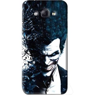 Snooky Printed Freaking Joker Mobile Back Cover For Samsung Galaxy A8 - Black