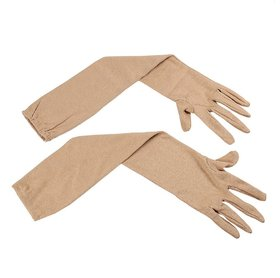 Benjoy - Arm Sleeves Grils,Womens Cold  Sun Protective Full Hand Gloves- Brown