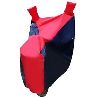 Benjoy Sporty Bike Motorcycle Body Cover Blue & Red With Mirror Pocket For Hero Pleasure