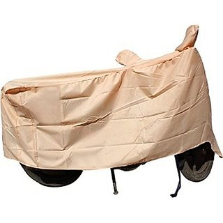 Benjoy Waterproof Coating Bike Body Cover With Mirror Pockets For Bajaj Discover 125 DTS-I