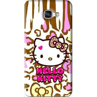 Snooky Printed Cute Kitty Mobile Back Cover For Samsung Galaxy A5 2016 - Multi