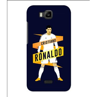 Snooky Printed Ronaldo Mobile Back Cover For Huawei Y560 - Blue