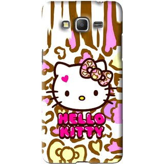 Snooky Printed Cute Kitty Mobile Back Cover For Samsung Galaxy Grand Prime - Multi